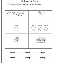 Plural Noun Worksheet For Kindergarten   Printable Worksheets and  Activities for Teachers [ 1650 x 1275 Pixel ]