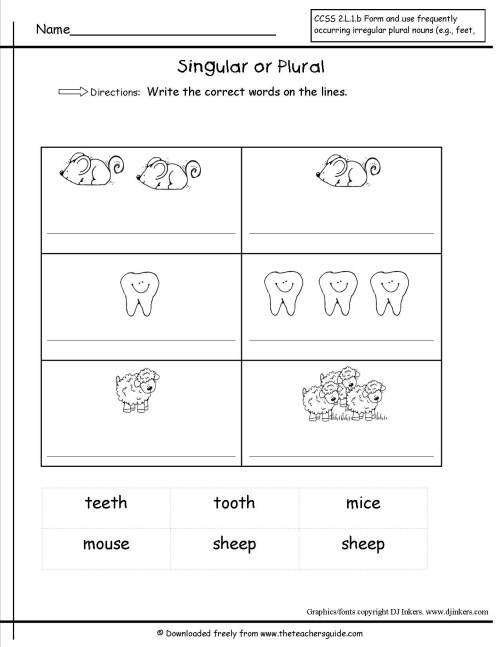 small resolution of Plural Noun Worksheet For Kindergarten   Printable Worksheets and  Activities for Teachers