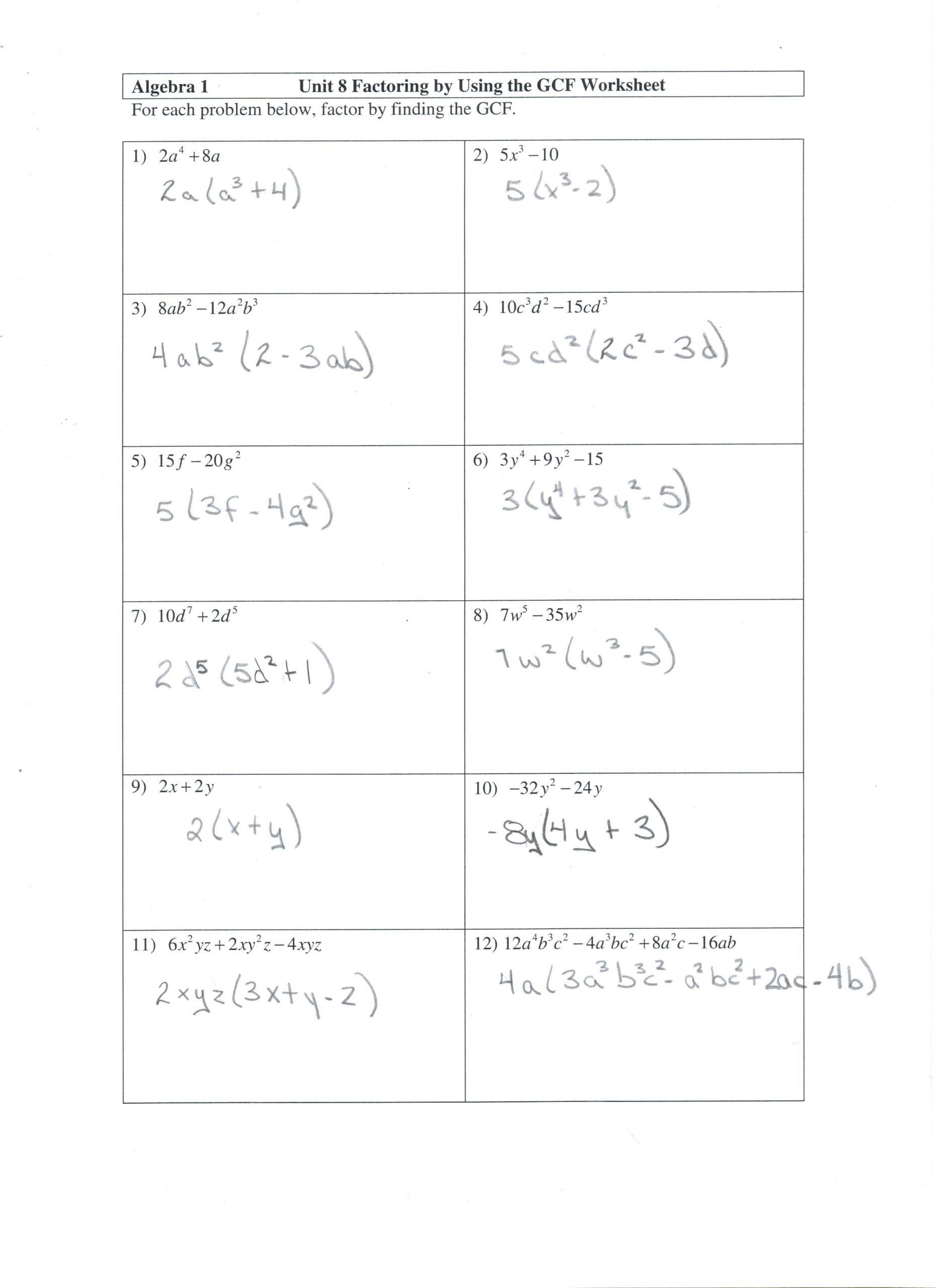 30 Lcm And Gcf Worksheet