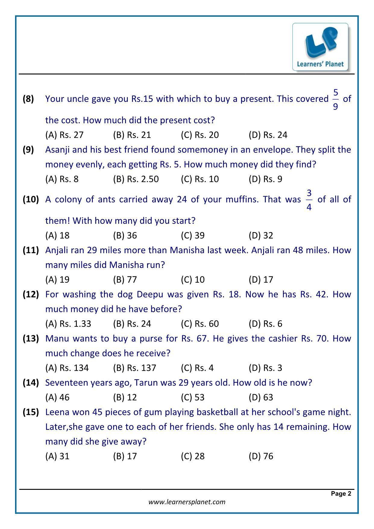 30 Linear Word Problem Worksheet