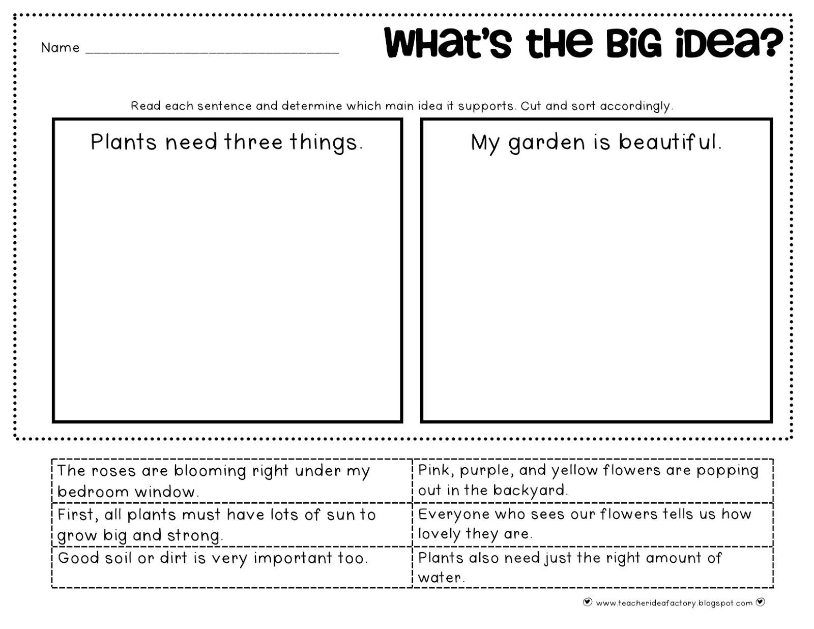 hight resolution of Outline Main Idea Worksheet   Printable Worksheets and Activities for  Teachers