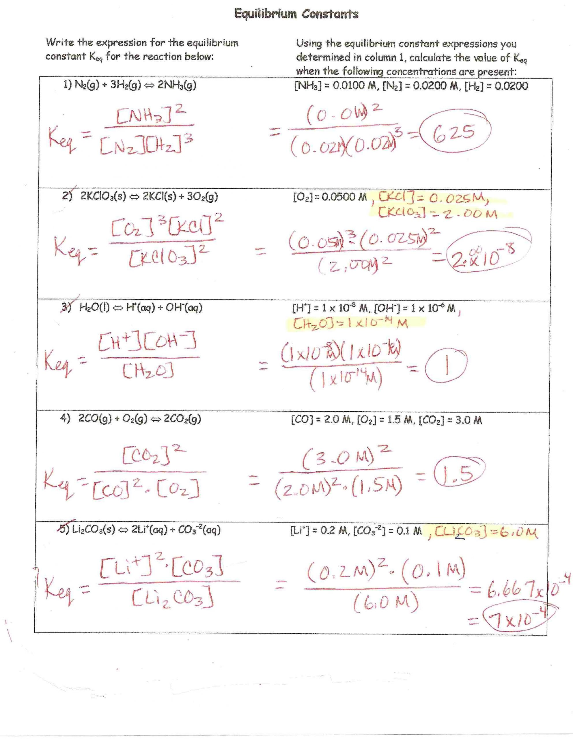 31 Molarity Worksheet Answer Key