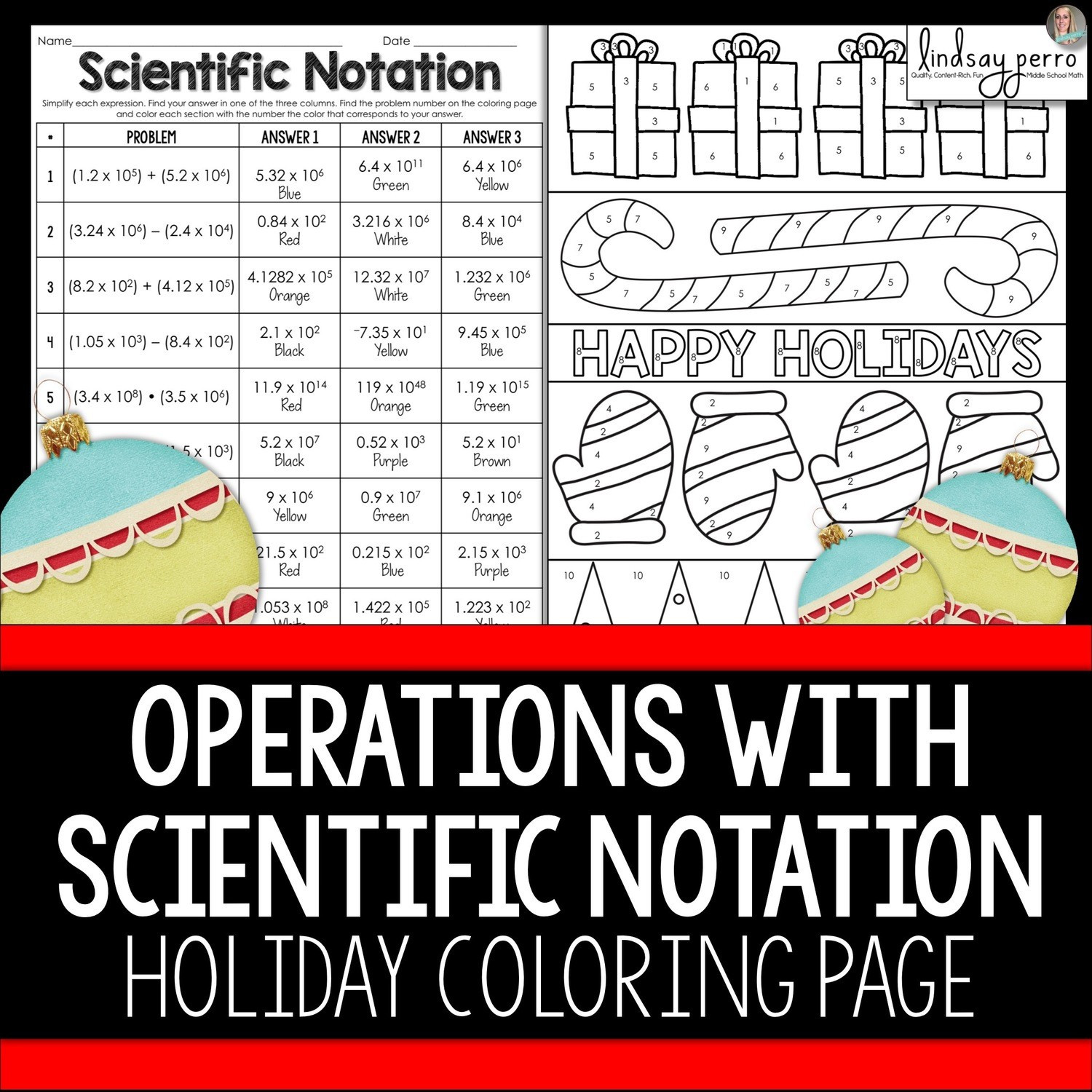 Operations With Scientific Notation Worksheet Education