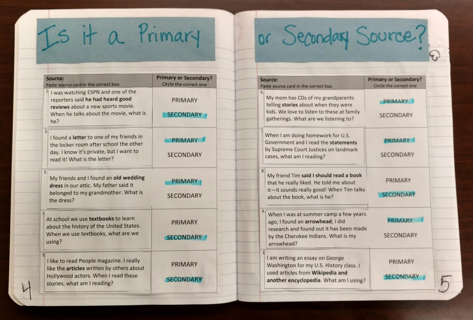 30 Primary And Secondary Sources Worksheet
