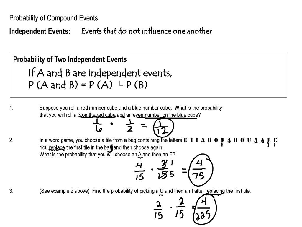 30 Probability Of Compound Events Worksheet