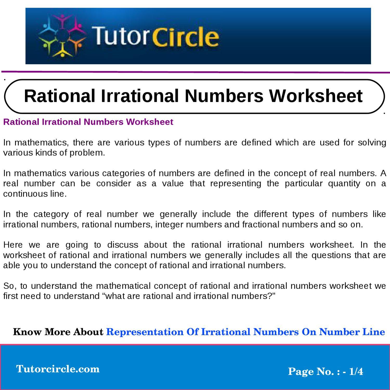 30 Rational Or Irrational Worksheet