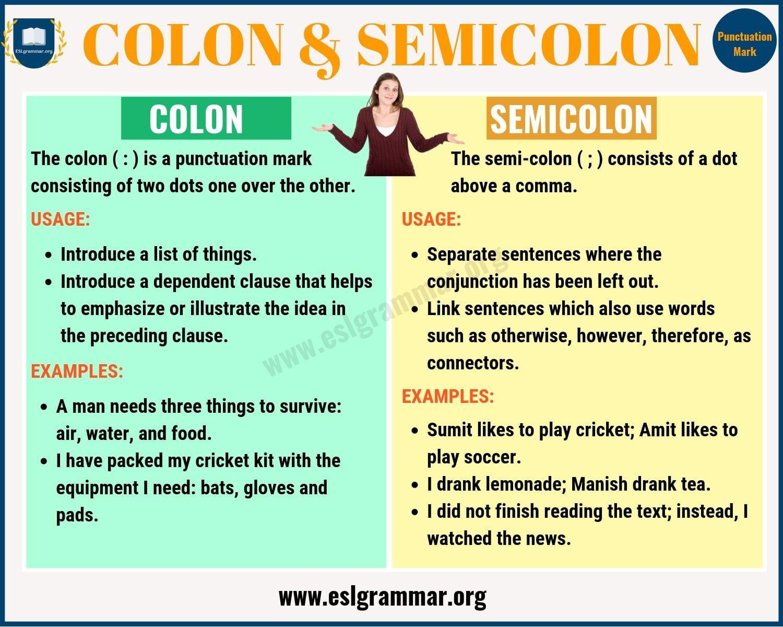 30 Semicolon And Colon Worksheet