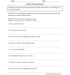 Simile Worksheets Answers   Printable Worksheets and Activities for  Teachers [ 2200 x 1700 Pixel ]