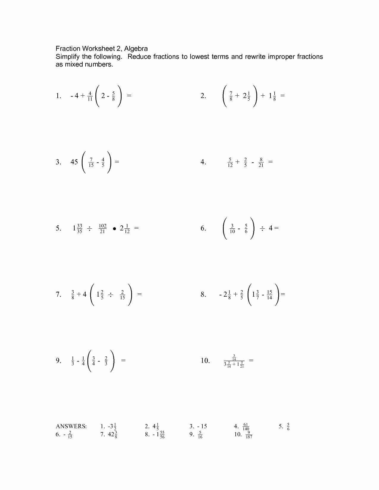 30 Simplifying Algebraic Expressions Worksheet Answers