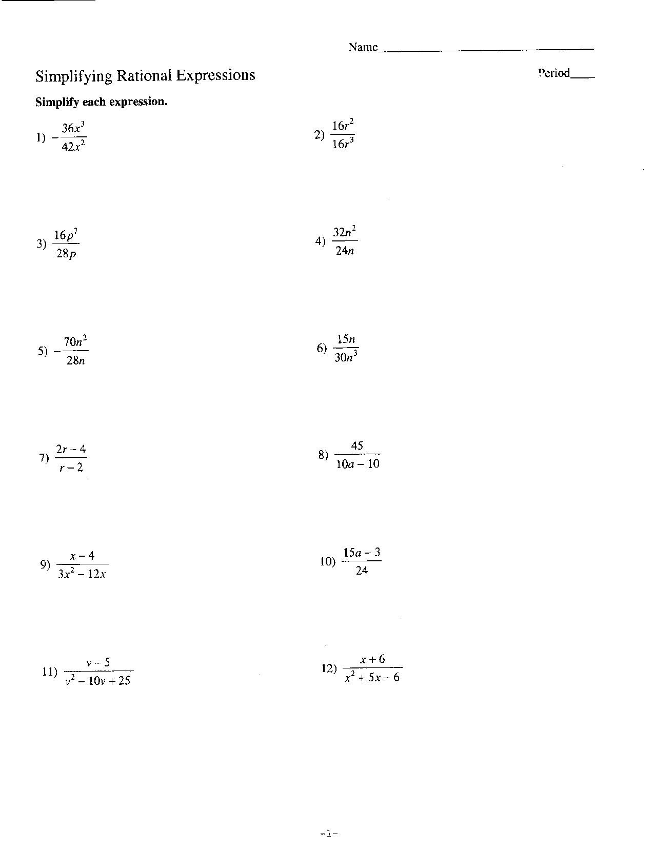 30 Simplifying Radicals Worksheet Algebra 2