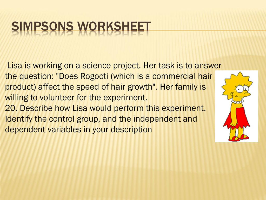 30 Simpsons Variables Worksheet Answers