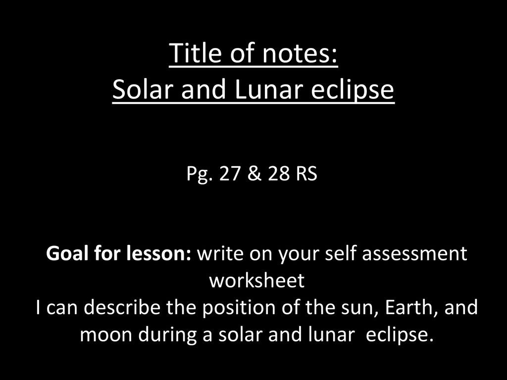 30 Solar And Lunar Eclipses Worksheet