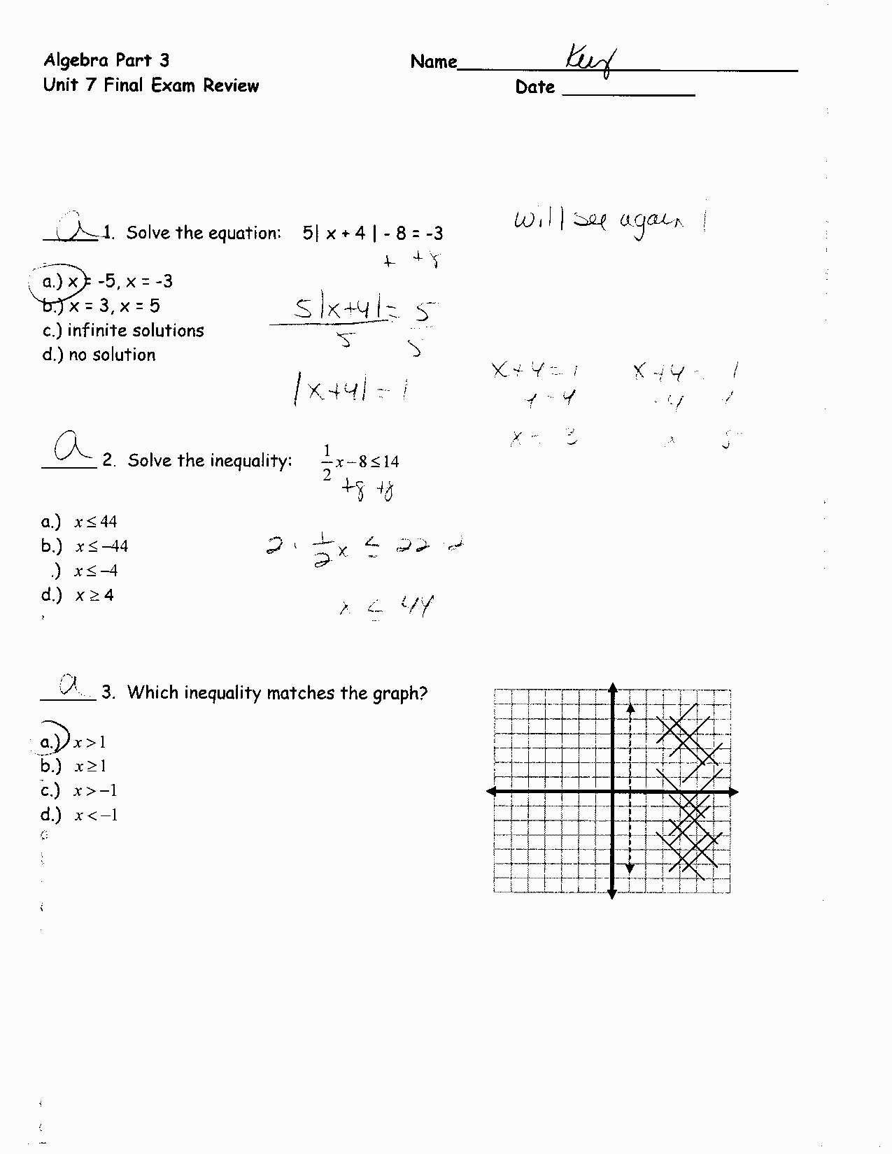 30 Solving Equations Review Worksheet