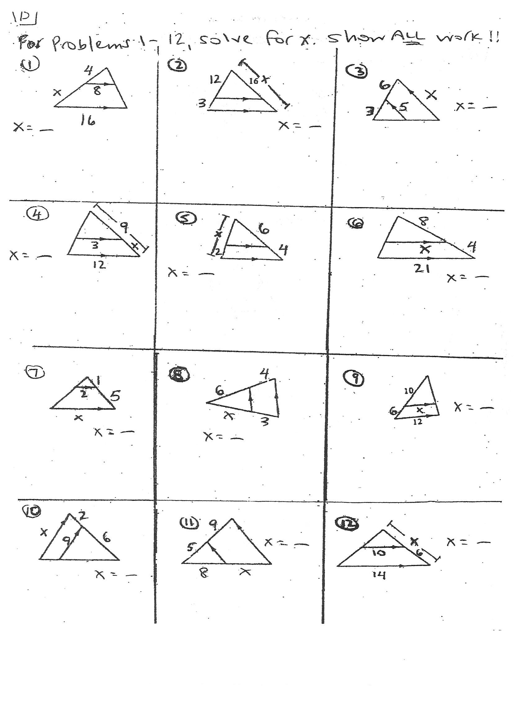 30 Triangle Interior Angles Worksheet Answers