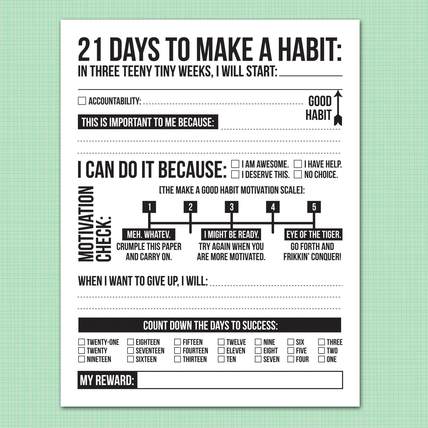 30 7 Habits Worksheet