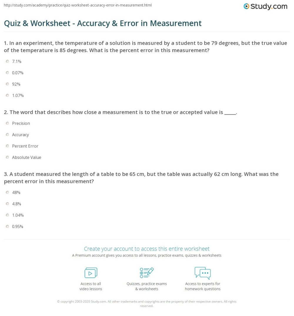 medium resolution of Percent Error Worksheet Key 7th Grade   Printable Worksheets and Activities  for Teachers