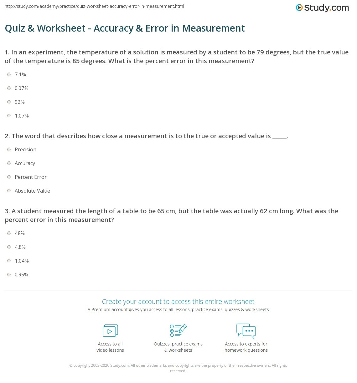 hight resolution of Percent Error Worksheet Key 7th Grade   Printable Worksheets and Activities  for Teachers