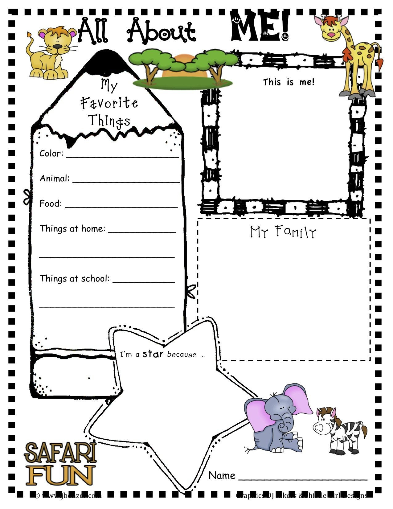 30 All About Me Printable Worksheet