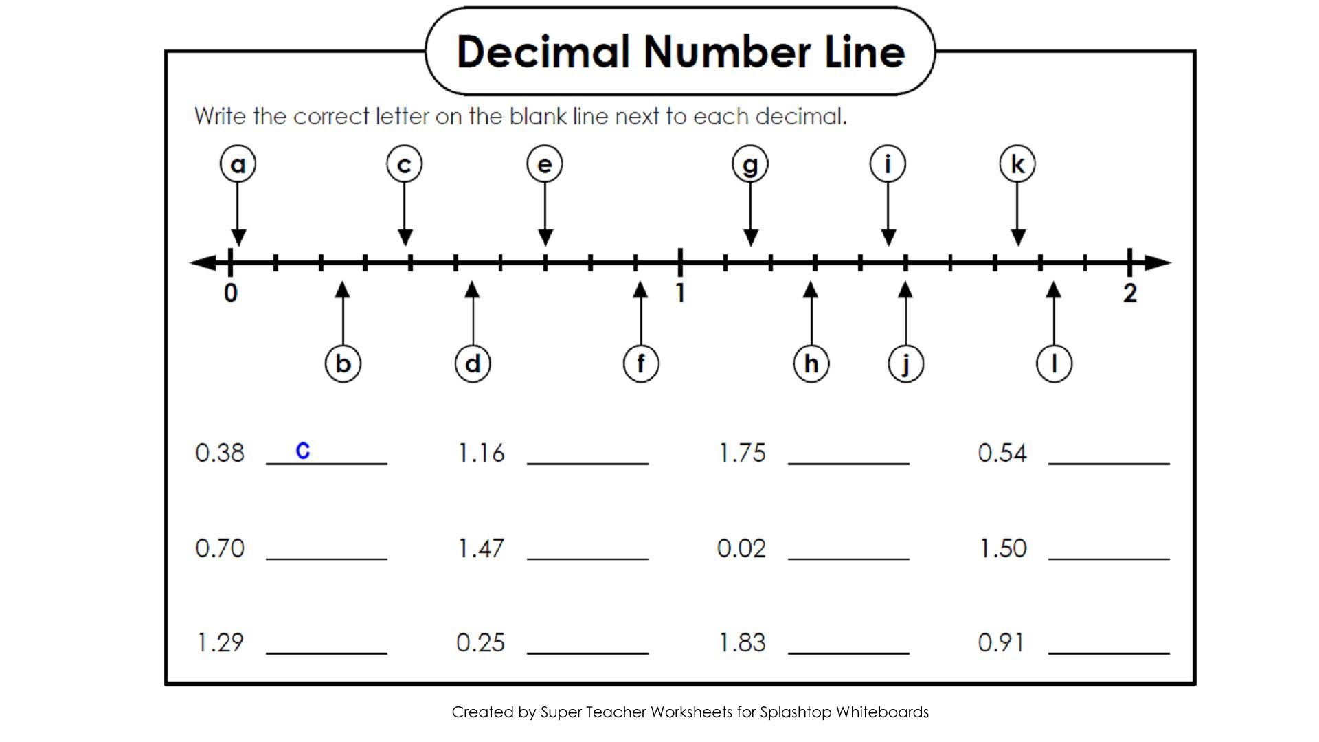 30 Blank Number Line Worksheet