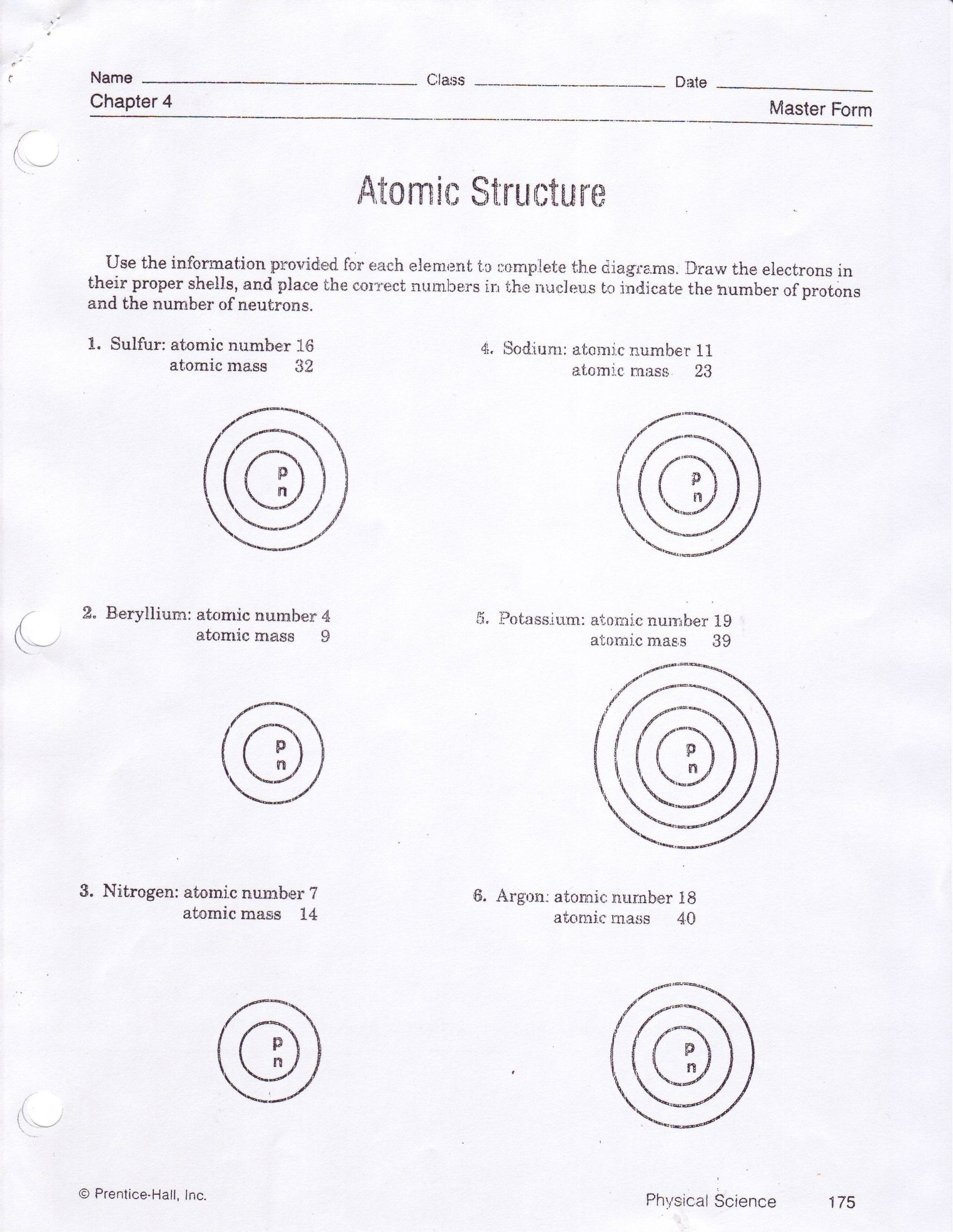 30 Bohr Model Worksheet Answers