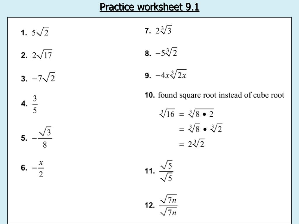 30 Completing The Square Practice Worksheet
