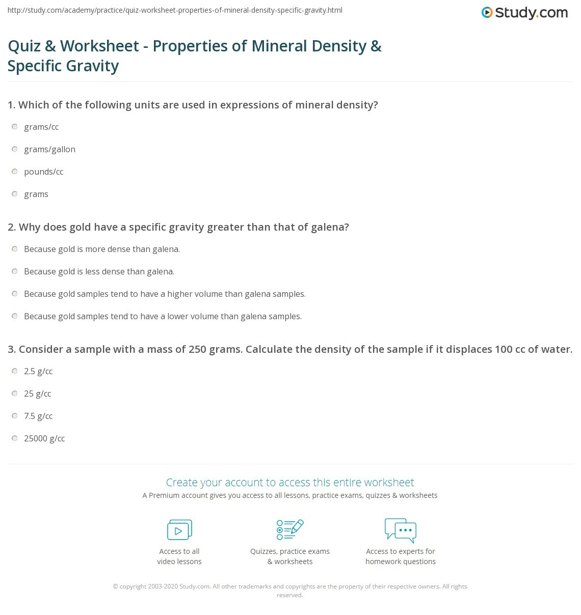 30 Density Calculations Worksheet Answers