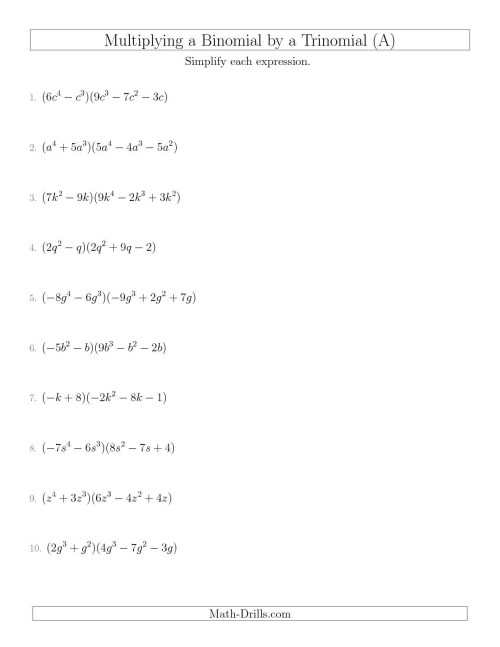 small resolution of Divide Monomial Worksheet   Printable Worksheets and Activities for  Teachers