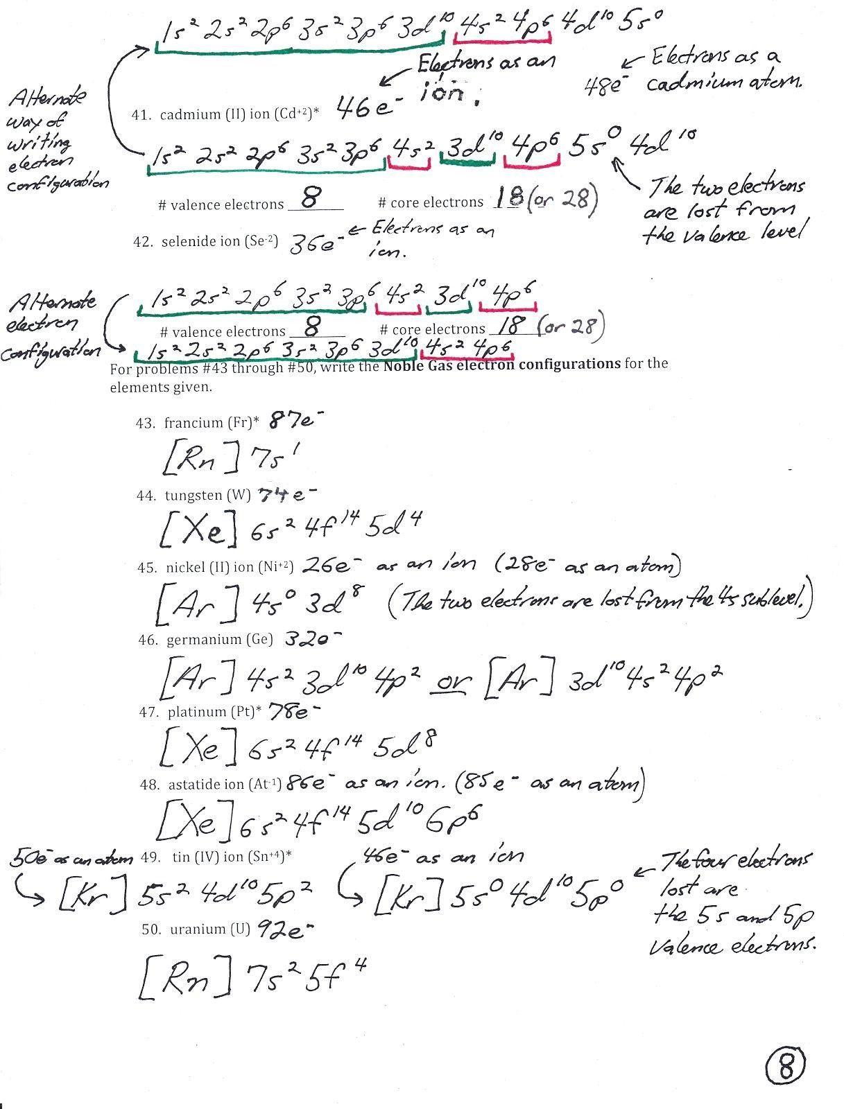 30 Electron Configuration Practice Worksheet