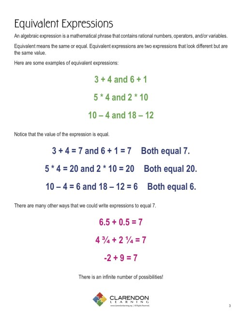 small resolution of Variable Expression Worksheets For 6th Grade   Printable Worksheets and  Activities for Teachers