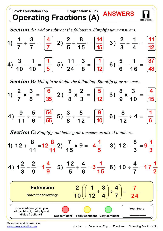30 Equivalent Fractions Worksheet