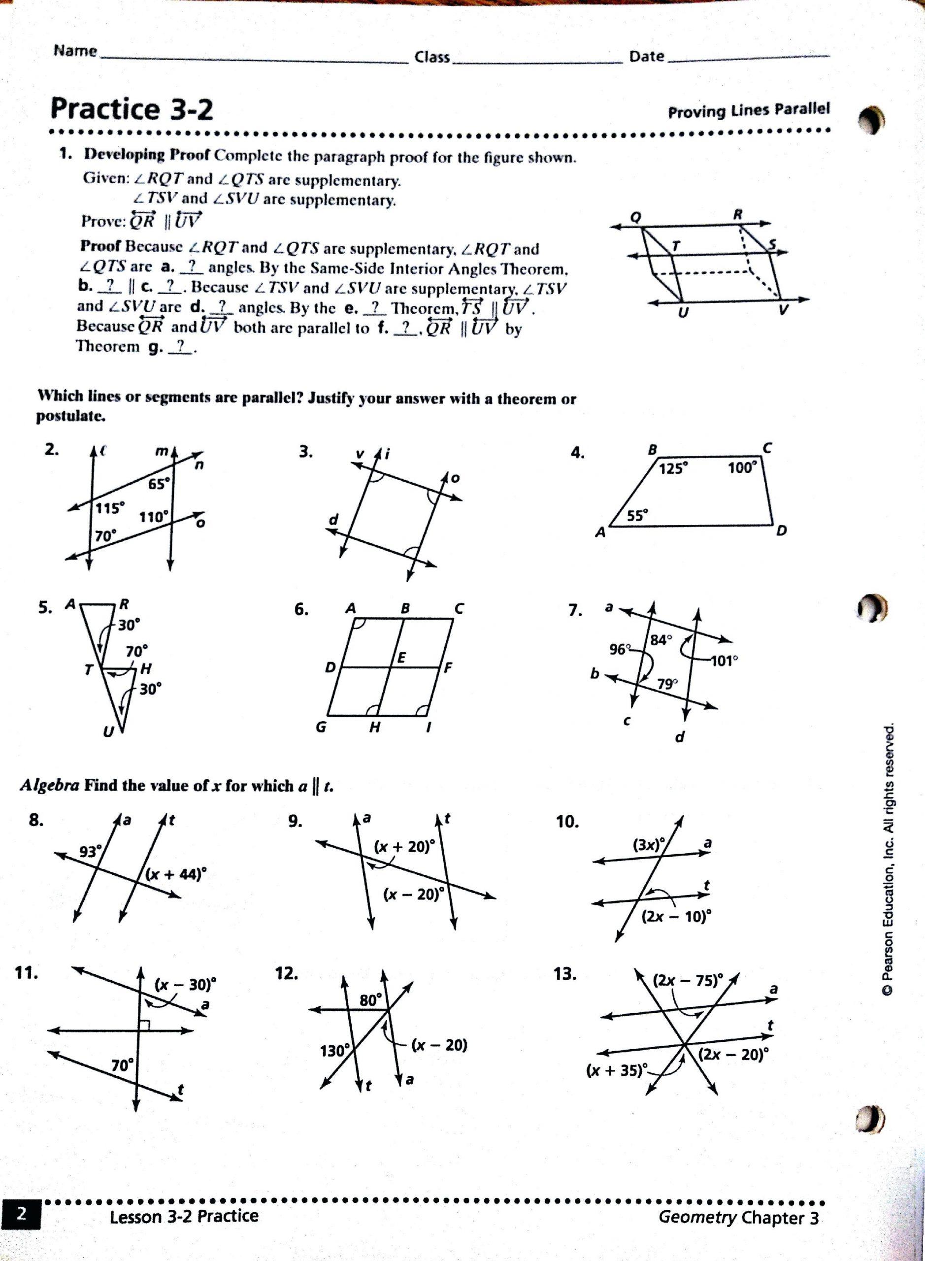 30 Geometry Worksheet Beginning Proofs