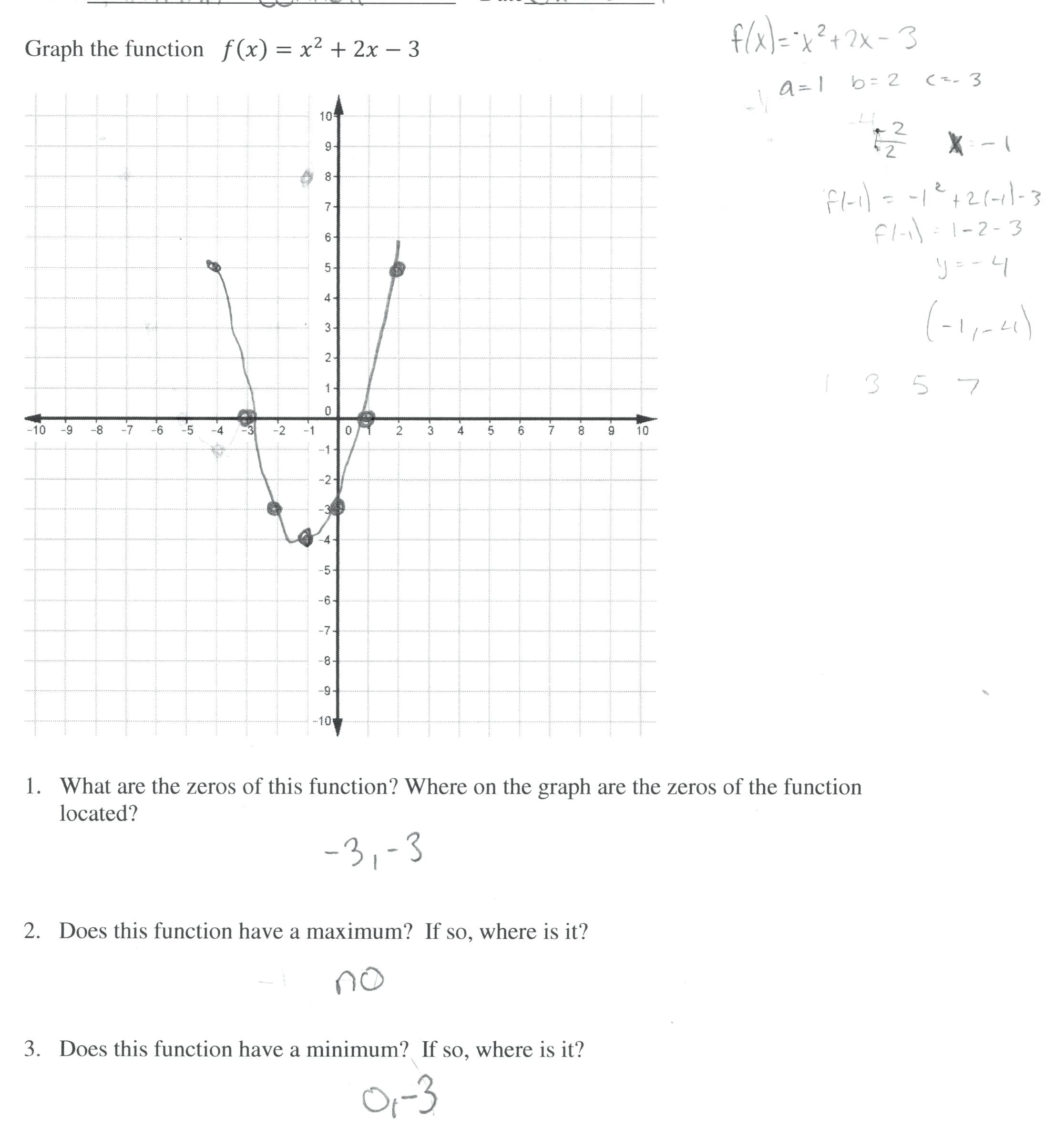 30 Graphing Quadratic Functions Worksheet