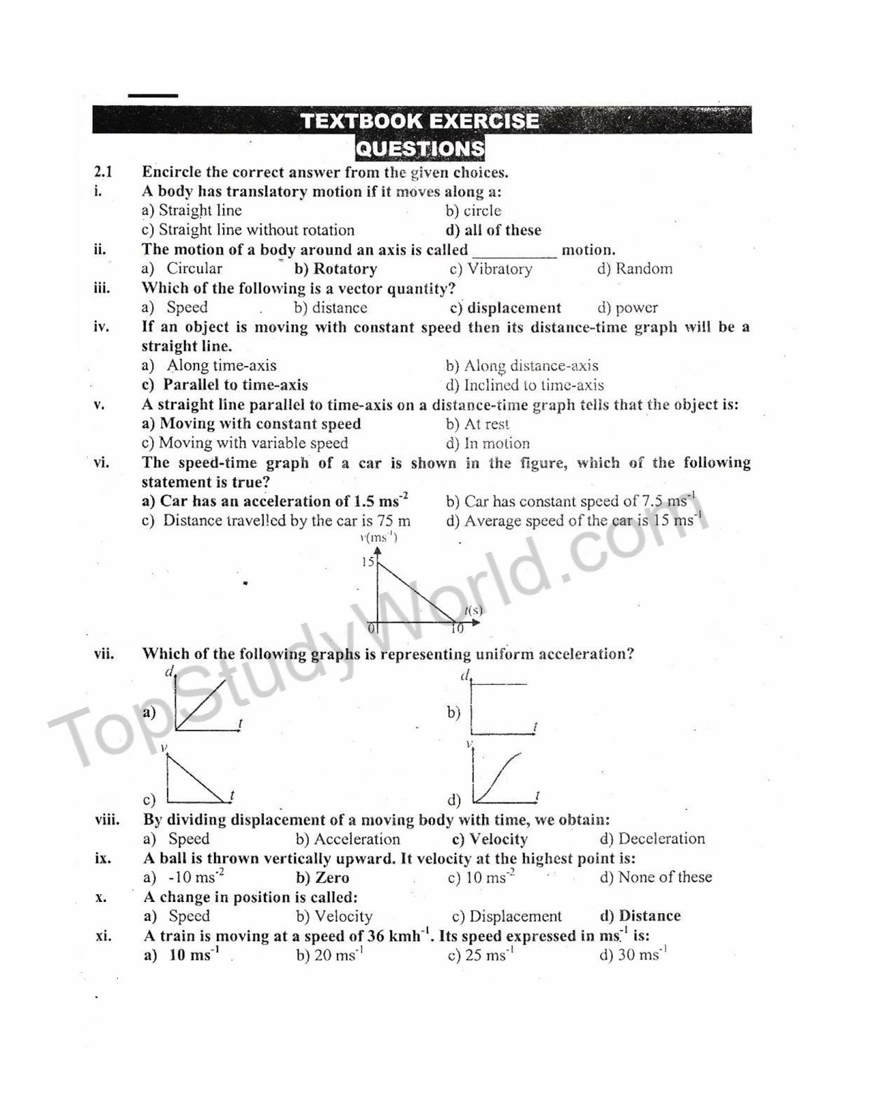 30 Kinematics Worksheet With Answers