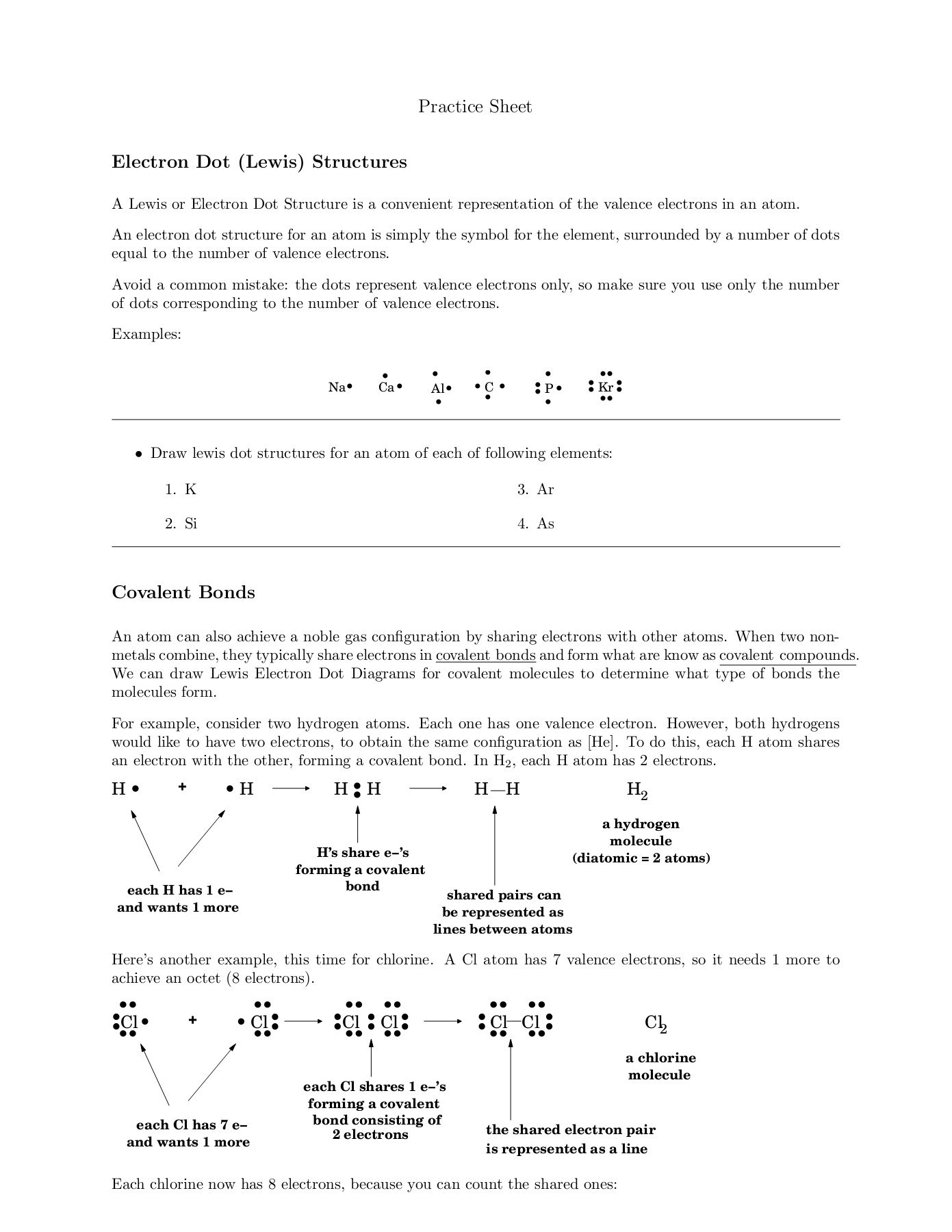 30 Lewis Dot Structure Practice Worksheet