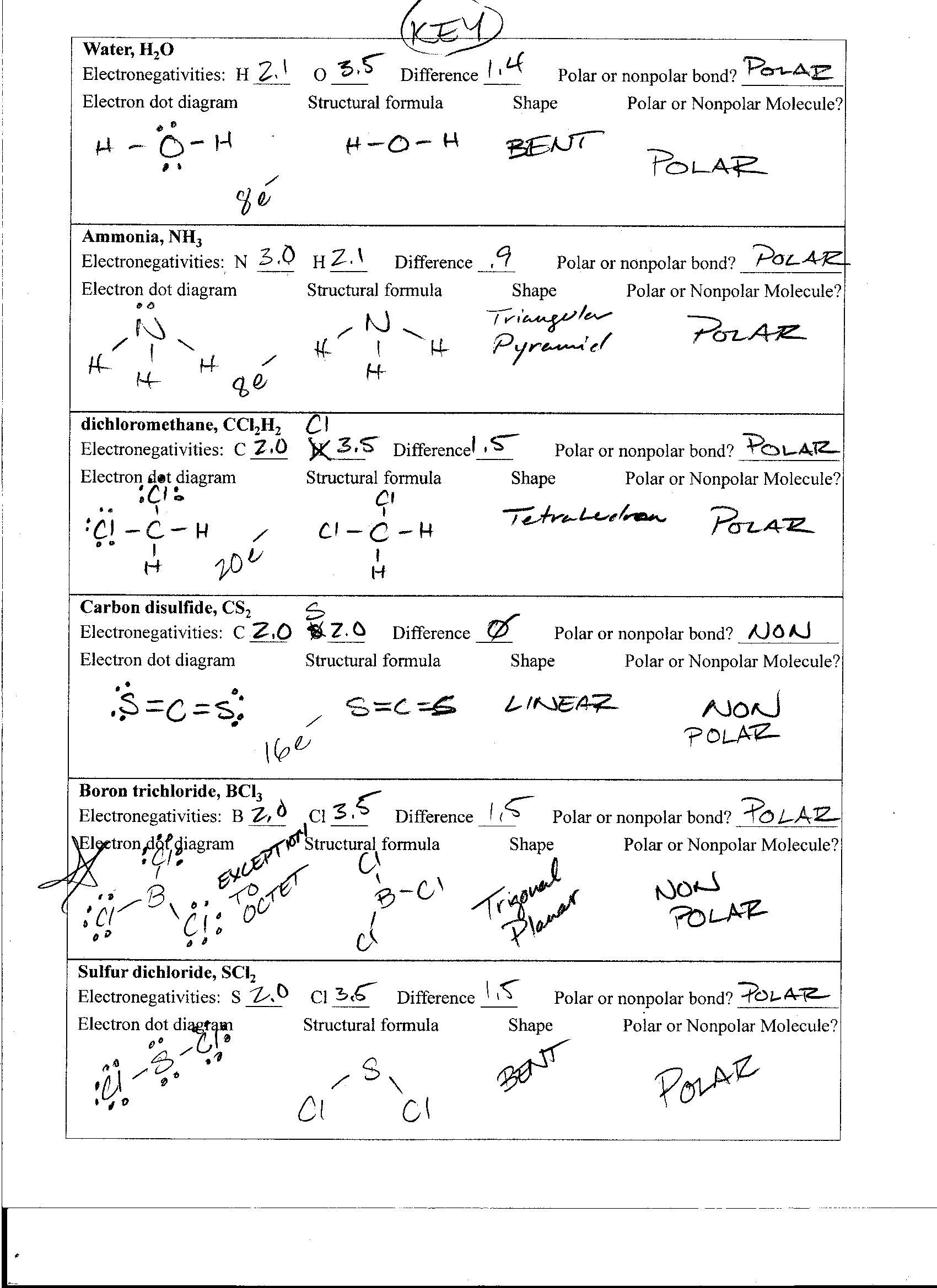30 Lewis Structures Worksheet With Answers