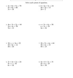 Math Worksheets On Equations And Inequalities   Printable Worksheets and  Activities for Teachers [ 1584 x 1224 Pixel ]