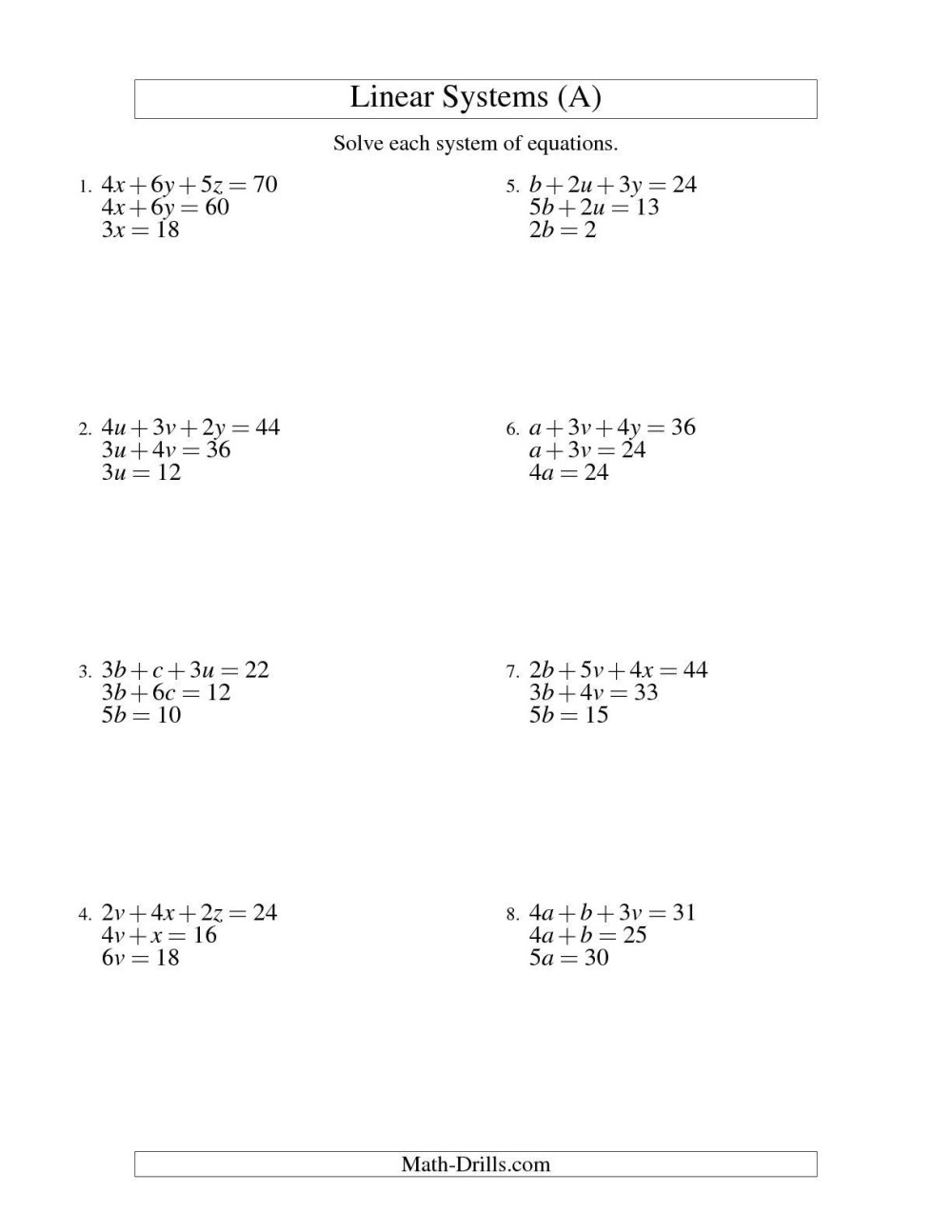 medium resolution of Math Worksheets On Equations And Inequalities   Printable Worksheets and  Activities for Teachers