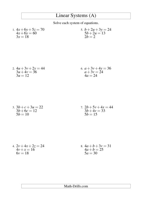small resolution of Math Worksheets On Equations And Inequalities   Printable Worksheets and  Activities for Teachers