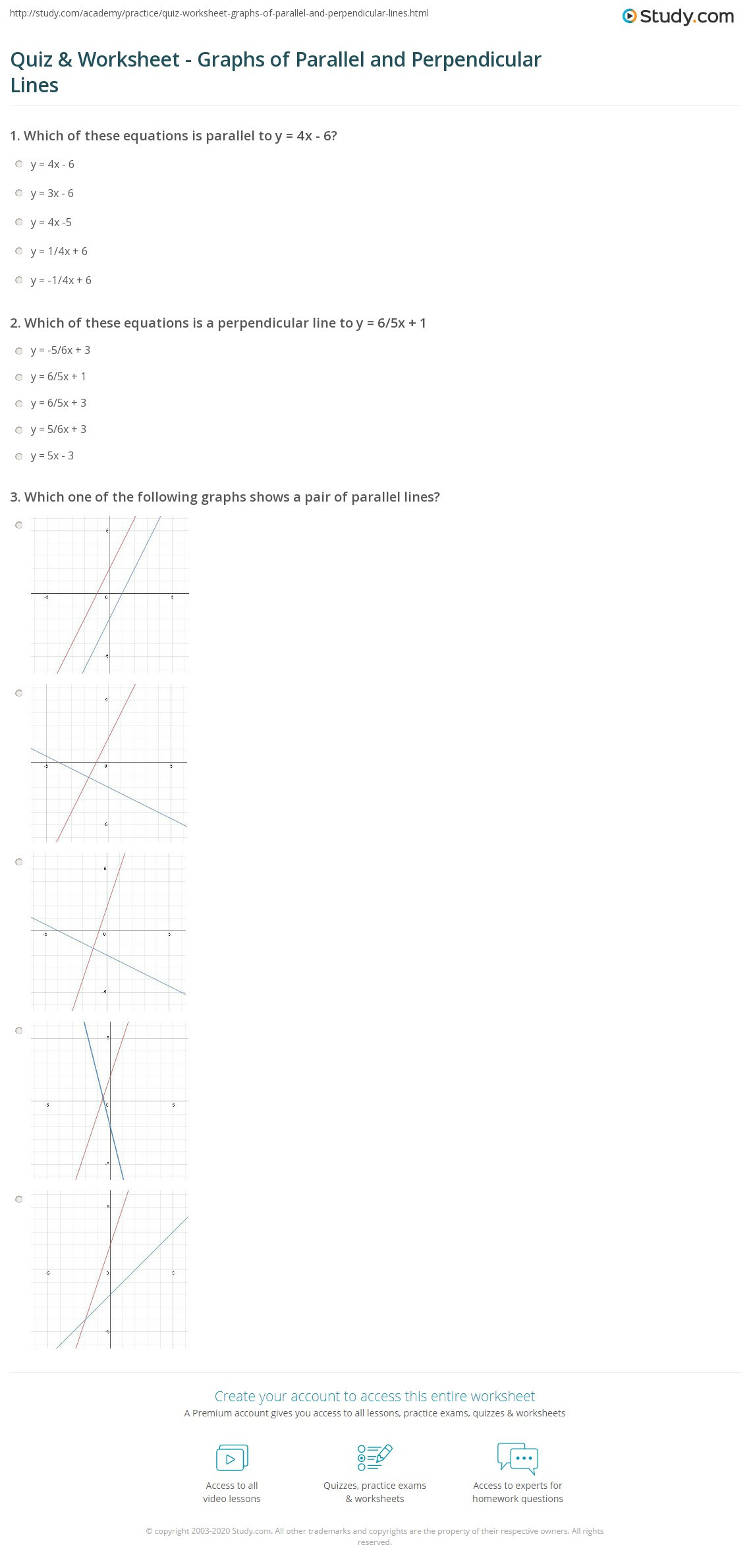 30 Parallel And Perpendicular Lines Worksheet