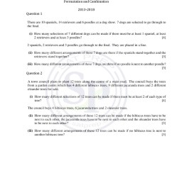 Permutation Practice Worksheets   Printable Worksheets and Activities for  Teachers [ 1497 x 1058 Pixel ]