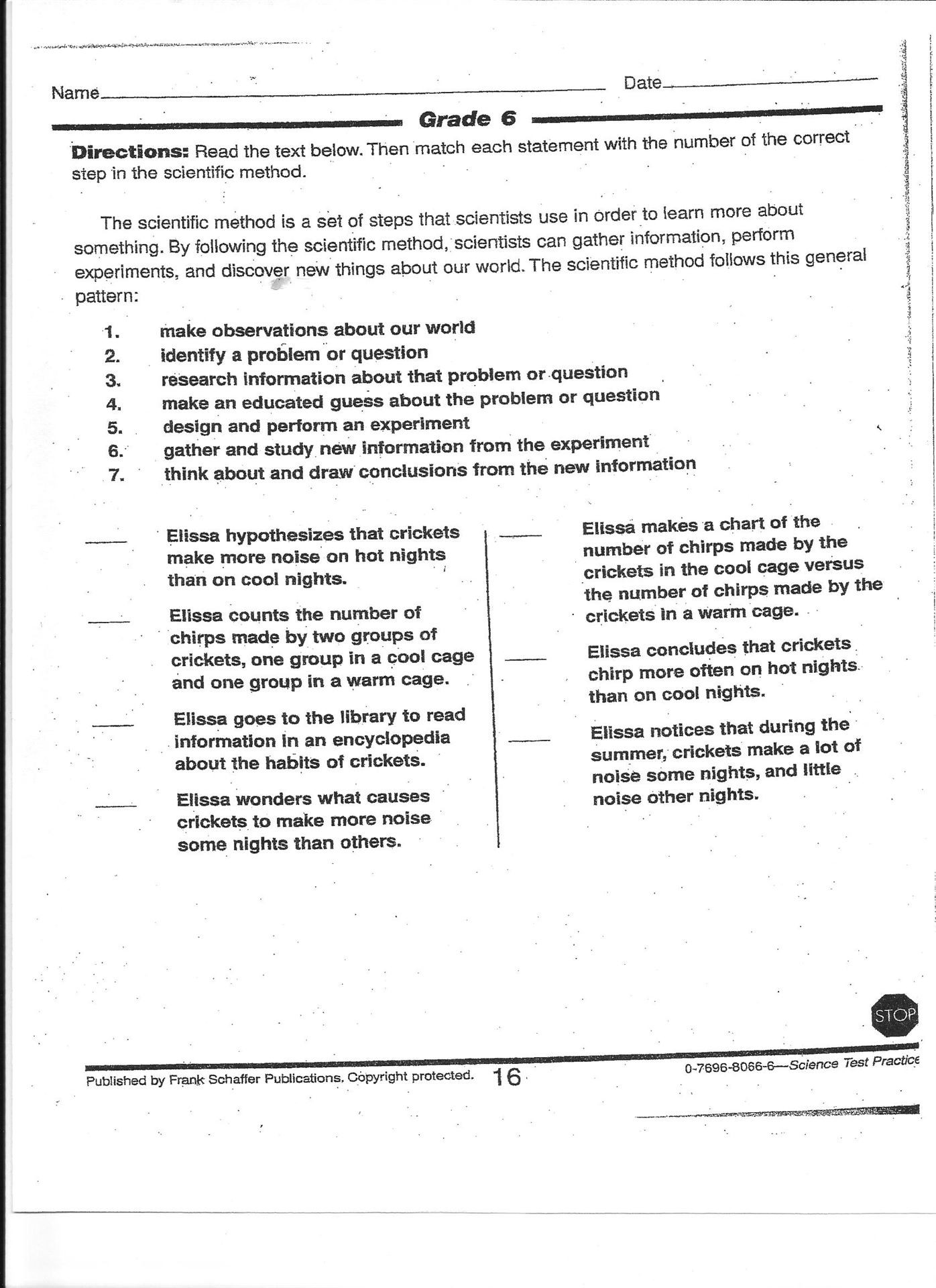 30 Scientific Method Worksheet 4th Grade