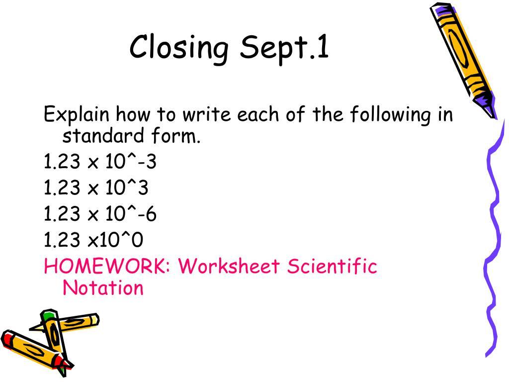 30 Scientific Notation Worksheet Chemistry
