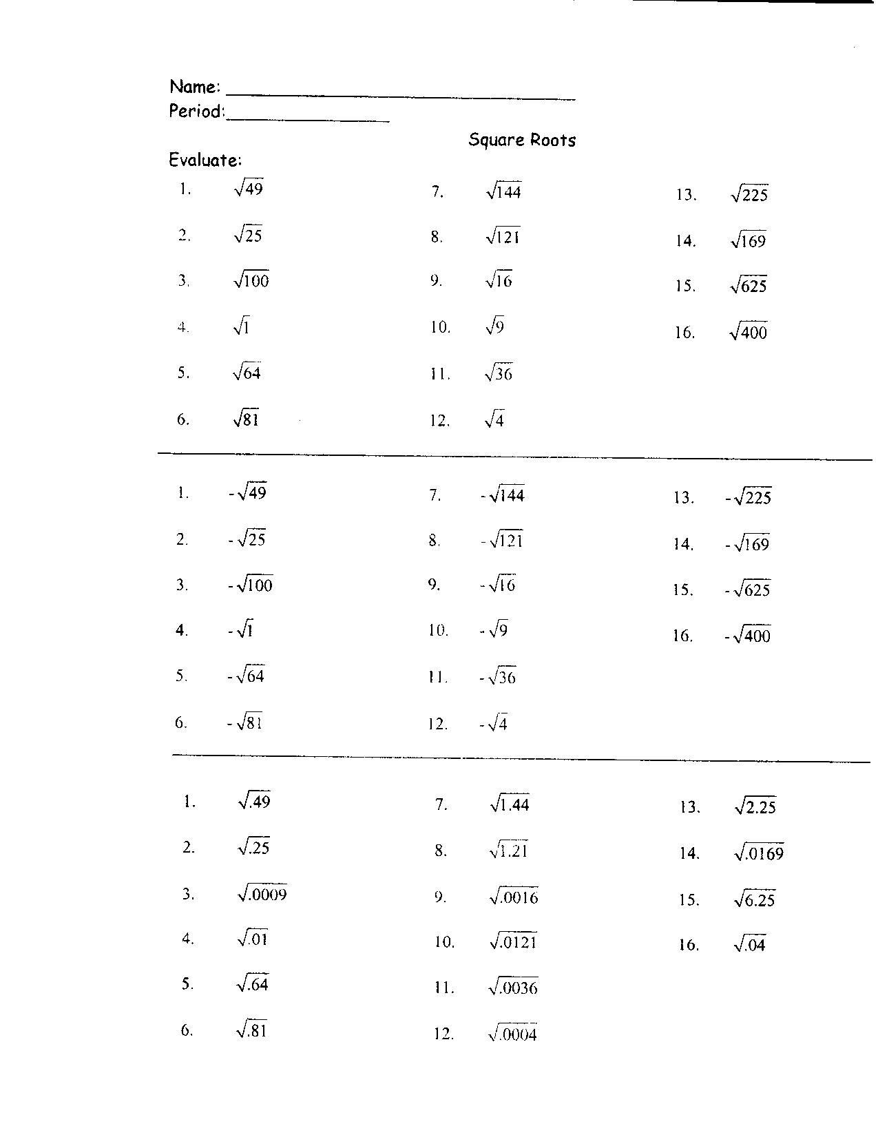 hight resolution of Cube Root Problems Worksheets   Printable Worksheets and Activities for  Teachers