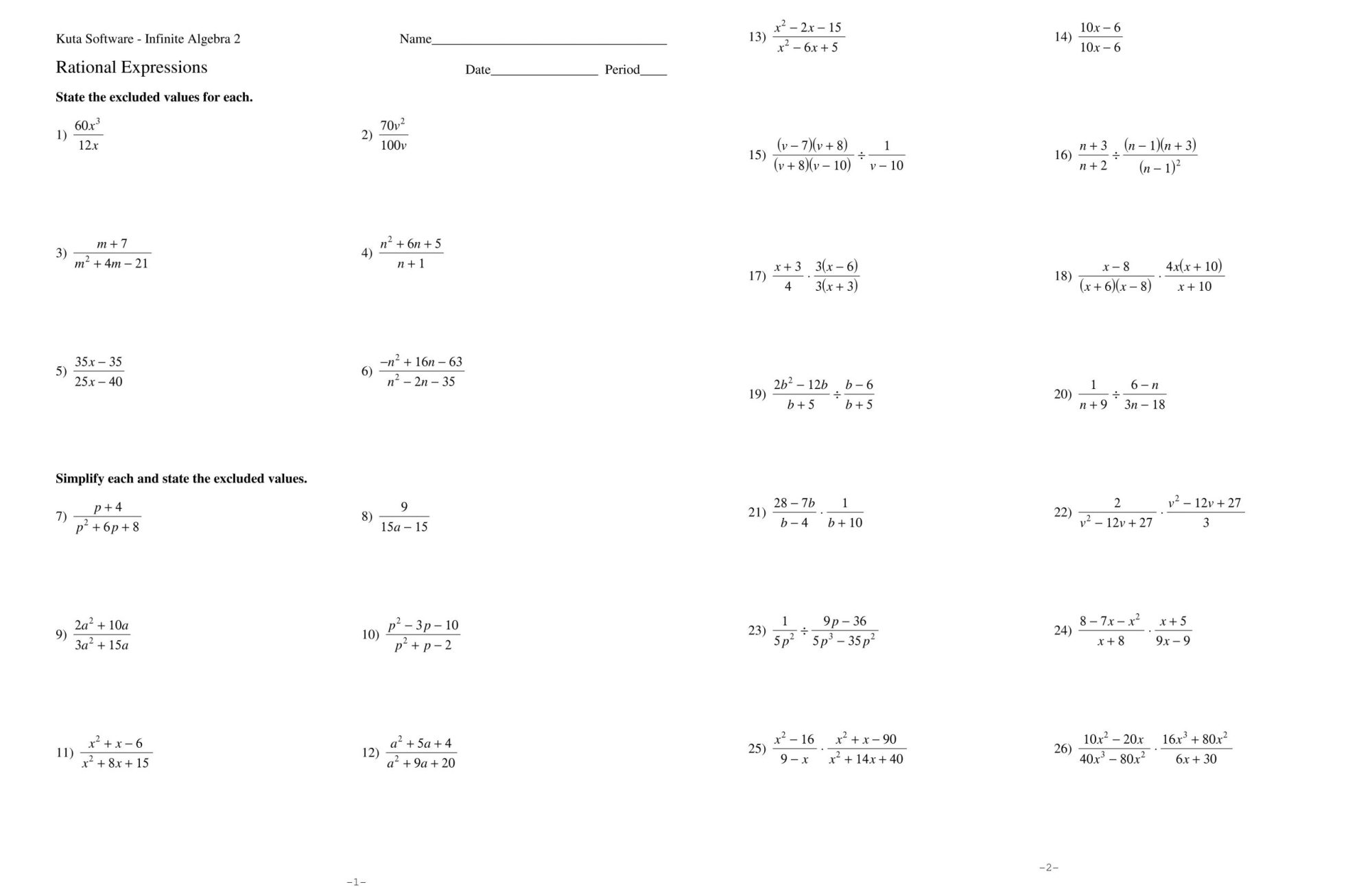 hight resolution of Algebraic Expressions Worksheet With Answers   Printable Worksheets and  Activities for Teachers