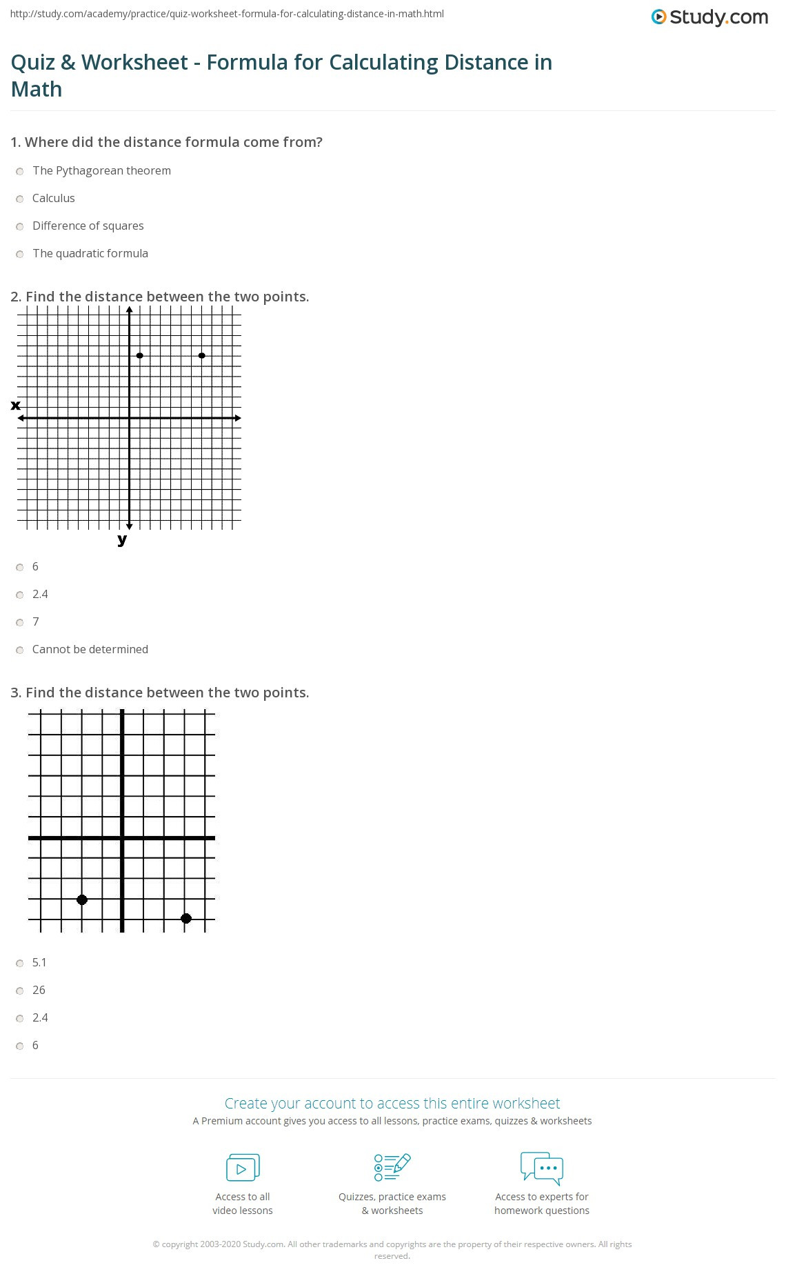 30 The Distance Formula Worksheet Answers