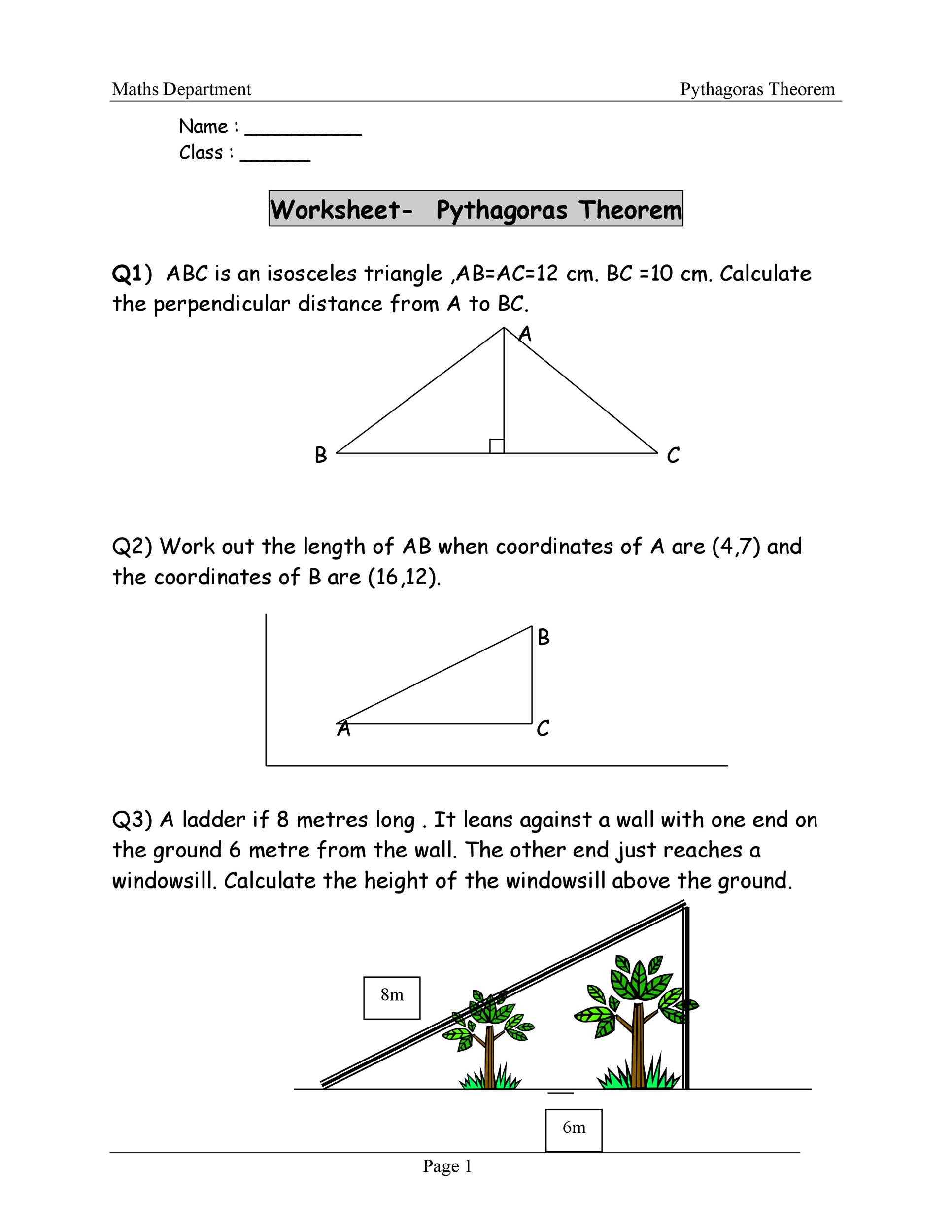 30 The Pythagorean Theorem Worksheet