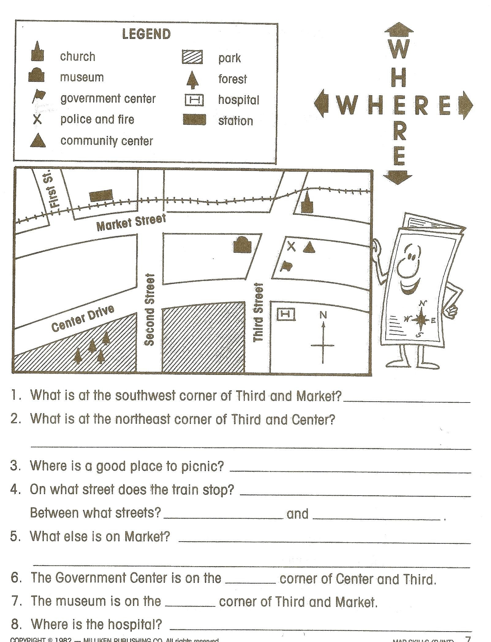 Topographic Map Reading Worksheet