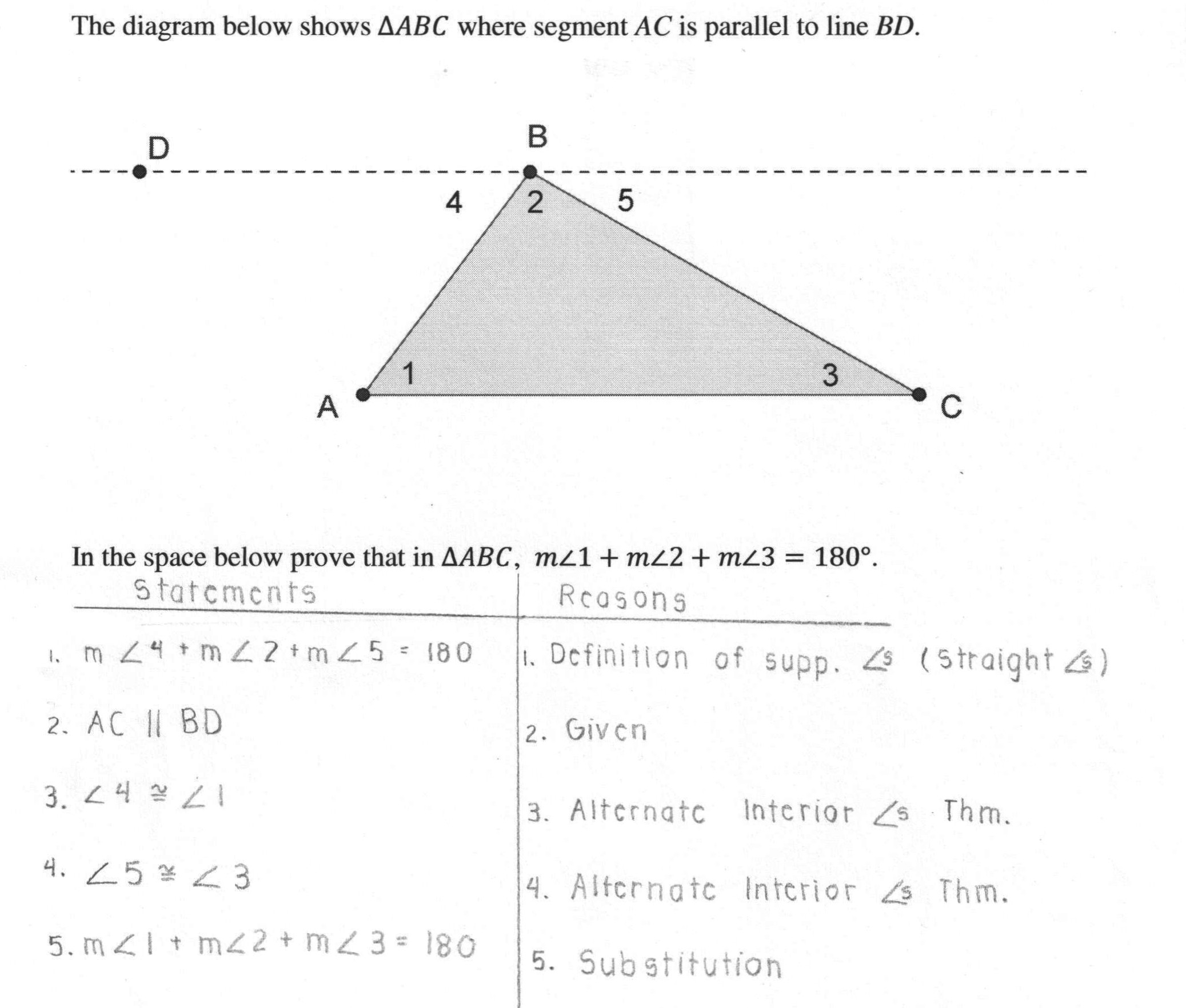 Triangle Angle Sum Worksheet Answers