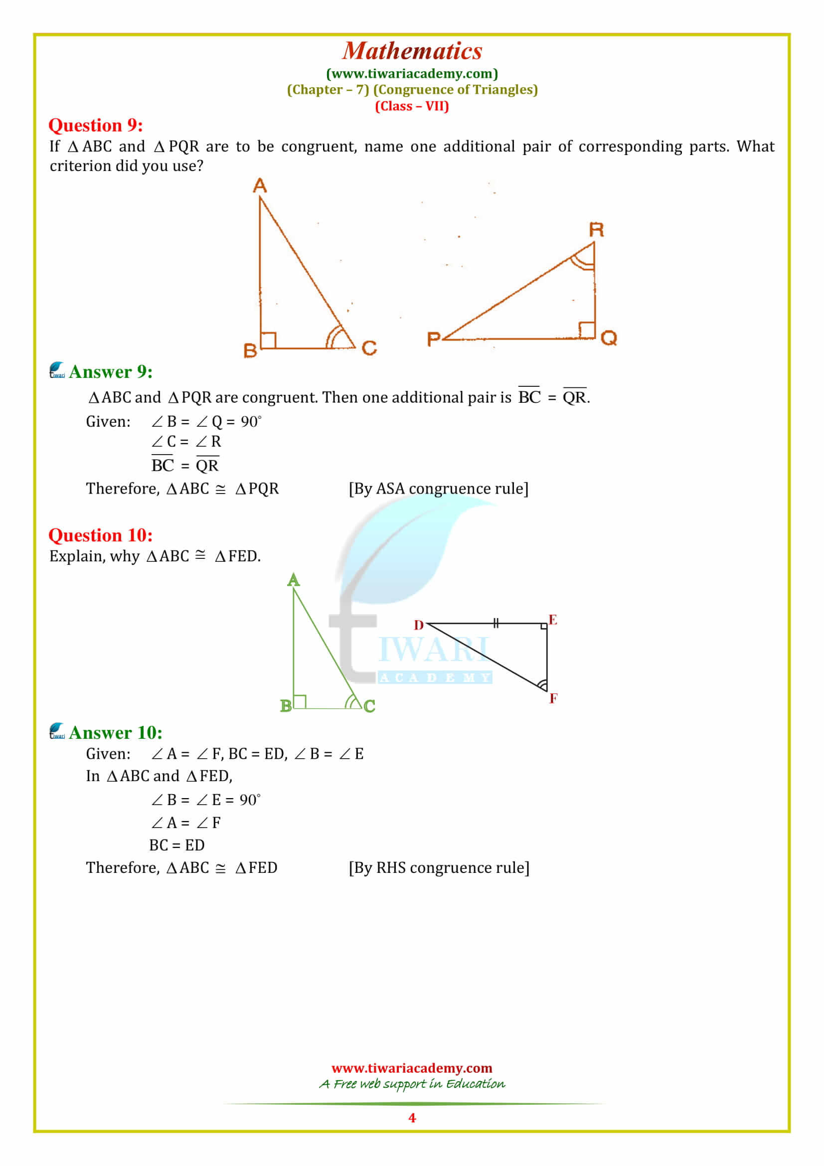 30 Triangle Congruence Worksheet Answers