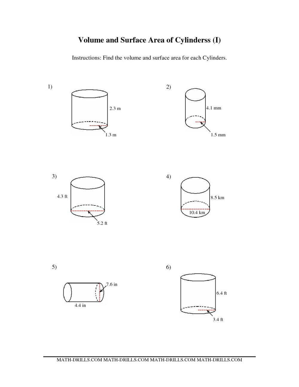 medium resolution of Cylinder Cone Volume Rate Worksheets   Printable Worksheets and Activities  for Teachers
